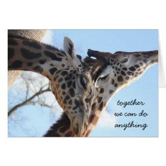 Junto nós podemos fazer qualquer coisa! Cartão