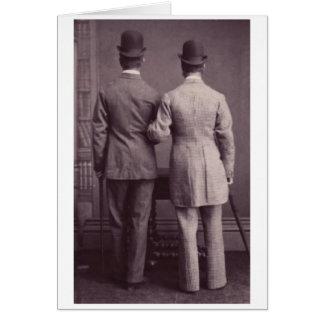 Junto para sempre cartão alegre Vintag dos homens