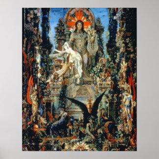 Jupiter e Semele, 1894-95 (óleo em canvas) Poster