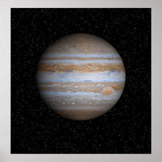 Jupiter em um campo de estrela - poster de Resizea