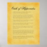Juramento de Hippocrates, olhar do pergaminho das  Posters