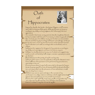 Juramento Hippocratic Impressão De Canvas Esticadas