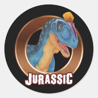 JURÁSSICO! Dinossauro Adesivos Em Formato Redondos