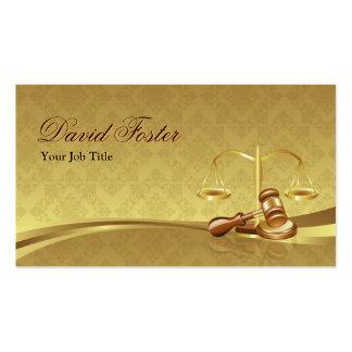 Justiça do advogado do advogado - folha de ouro cartão de visita