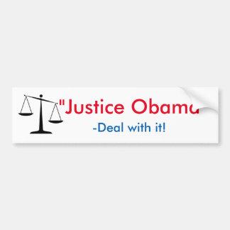 """""""Justiça Obama """" Adesivo Para Carro"""