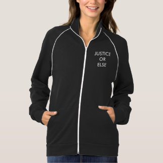 Justiça ou então jaqueta jaqueta com estampa
