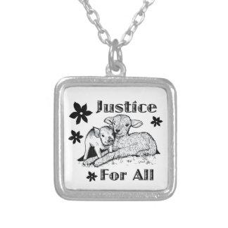 Justiça para toda a colar dos direitos dos animais