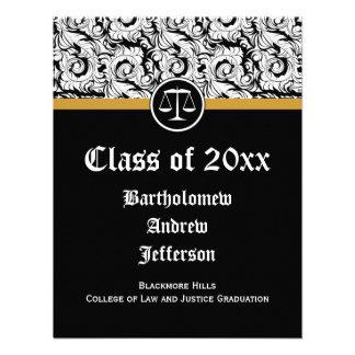 Justiça preta branca escala a graduação da escola convites personalizado