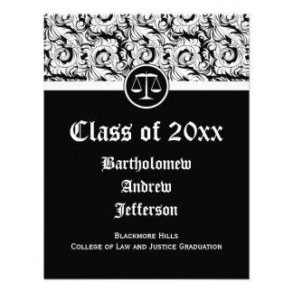 Justiça preta branca escala a graduação da escola convite personalizado