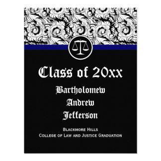 Justiça preta branca escala a graduação da escola convites personalizados