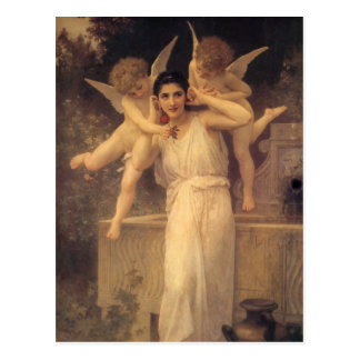 Juventude por Bouguereau, anjos do vintage, arte Cartão Postal