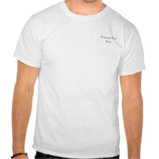 K&K - Camisa azul da flor T-shirt