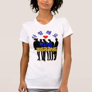 K-Pop americano Tee♥♫ do roupa das mulheres de Camiseta