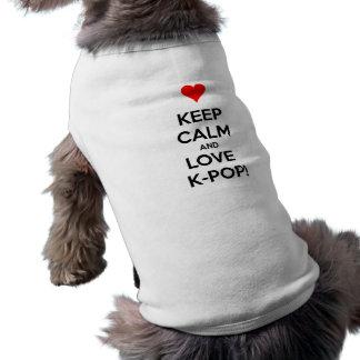 K-Pop do amor! Camisa Sem Mangas Para Cachorro