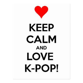 K-Pop do amor! Cartão Postal