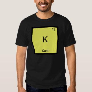 K - T engraçado do símbolo da química do elemento Tshirt