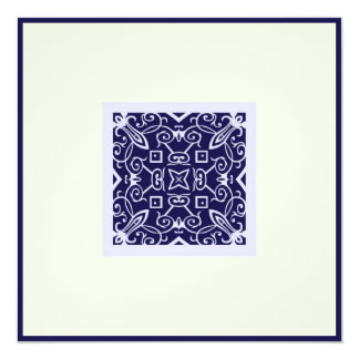 Ka azul árabe islâmico do casamento do noivado do convite quadrado 13.35 x 13.35cm