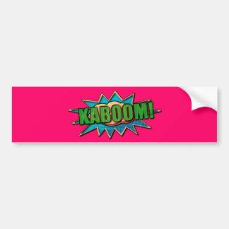 KABOOM! onomatopoeia do estilo da banda desenhada Adesivo Para Carro