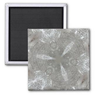 Kaleidoscopic decorativo antigo das cinzas de ímã quadrado