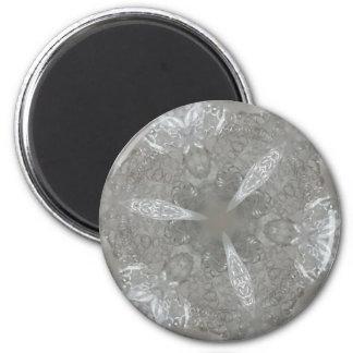 Kaleidoscopic decorativo antigo das cinzas de ímã redondo 5.08cm