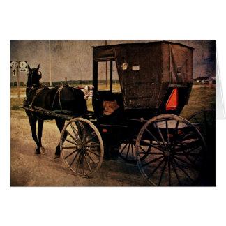 Kalona, carrinho de Iowa Amish, aniversário Cartão Comemorativo