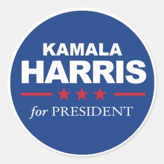 Kamala Harris para o presidente - azul da etiqueta