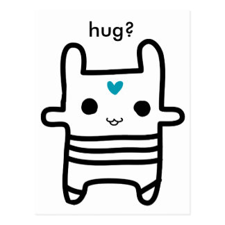 Kami - coelho hearted, abraço? cartão