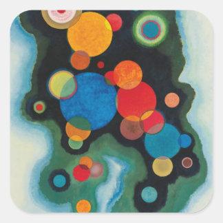 Kandinsky aprofundou o óleo abstrato do impulso em adesivo quadrado