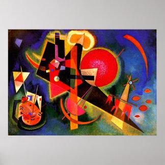 Kandinsky - no azul pôster