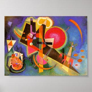 Kandinsky no poster azul pôster