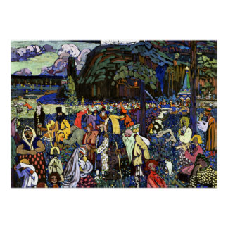 Kandinsky - vida colorida pôster