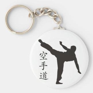 Kanji alto do pontapé/karaté chaveiro