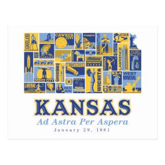 Kansas - anúncio Astra por Aspera - cartão