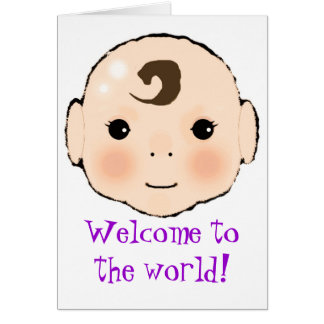 """Kappuke-ki """"boa vinda cartão novo do bebê ao"""