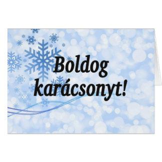 Karácsonyt de Boldog! Feliz Natal em FB húngaro Cartão