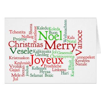 Karácsonyt de Boldog! Feliz Natal no wf húngaro Cartão Comemorativo