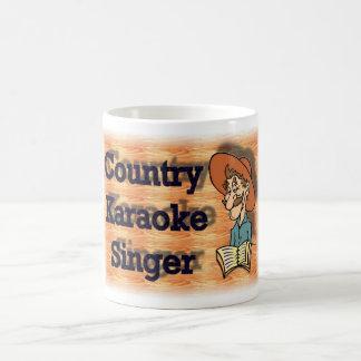 Karaoke do país caneca de café