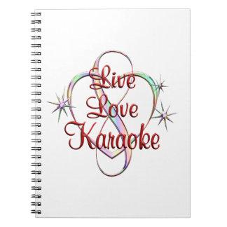 Karaoke vivo do amor cadernos