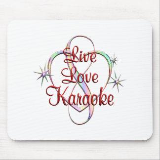 Karaoke vivo do amor mouse pad