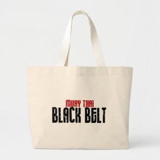 Karaté tailandês do cinturão negro de Muay Bolsas Para Compras