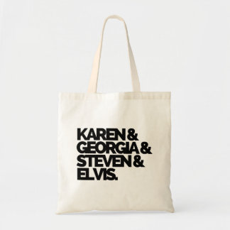 Karen & bolsa de Geórgia & de Steven & de Elvis