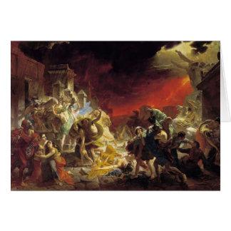 Karl Bryullov- o último dia de Pompeii Cartões