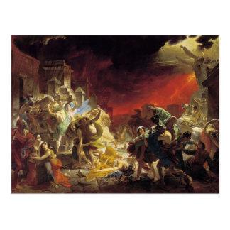 Karl Bryullov- o último dia de Pompeii Cartoes Postais