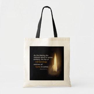 Karmas - fogo de ardência - saco das citações do bolsa tote