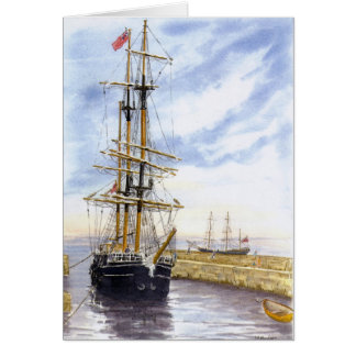 """""""Kaskelot entra cartão no porto de Charlestown"""""""