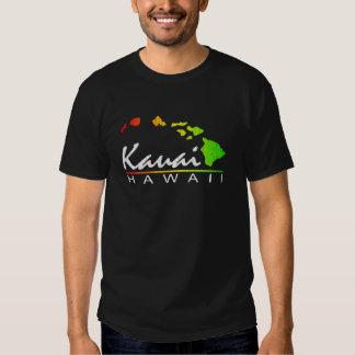 KAUAI Havaí (design afligido) Camisetas