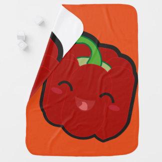 Kawaii e pimenta vermelha engraçada manta de bebe