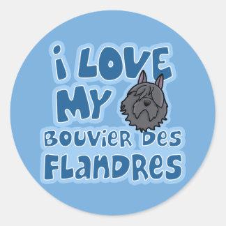 Kawaii eu amo meu DES Flandres de Bouvier Adesivo
