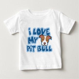 Kawaii eu amo minha criança do pitbull t-shirt