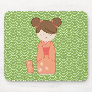 Kawaii Kokeshi Mouse Pad